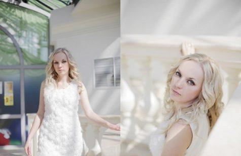 結婚式 背中を隠すドレス